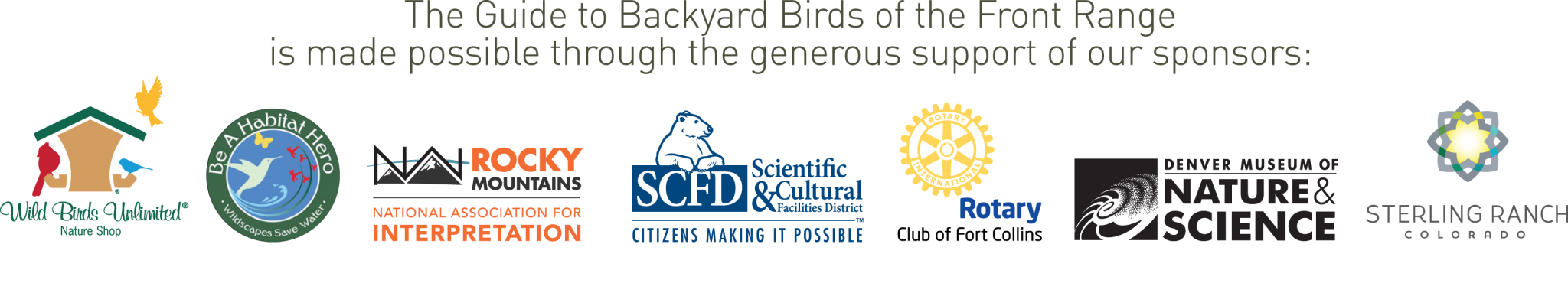 guide to the backyard birds of the front range u2013 birdconservancy org